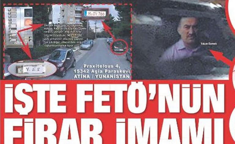 Η Sabah… «βρήκε» ηγετικό στέλεχος των γκιουλενιστών στην Αθήνα!