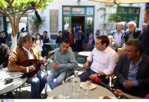"""""""Η Κρήτη αλλάζει πρόσωπο"""" – Η επίσκεψη Τσίπρα στα Ανώγεια"""