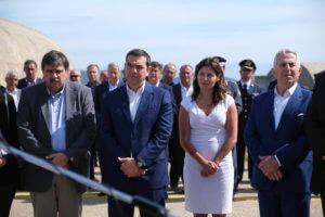 Τσίπρας: Με Μπέτι Μπαζιάνα και Πολάκη τα εγκαίνια της βάσης Αεροδιακομιδών στο Άκτιο