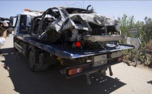 """""""Σμπαράλια"""" το αυτοκίνητο του Χοσέ Αντόνιο Ρέγιες! Οι πρώτες εικόνες από τον τόπο του δυστυχήματος"""