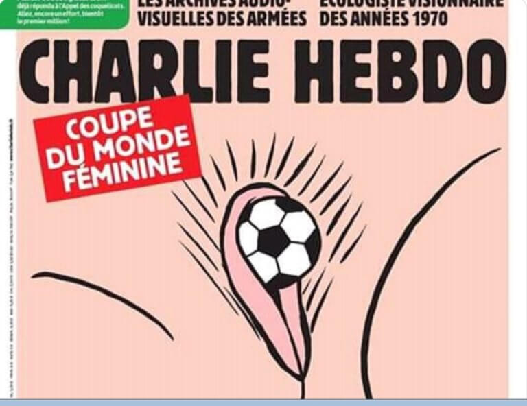 To «Charlie Hebdo» προκαλεί! Σάλος με το εξώφυλλο για το Μουντιάλ Γυναικών