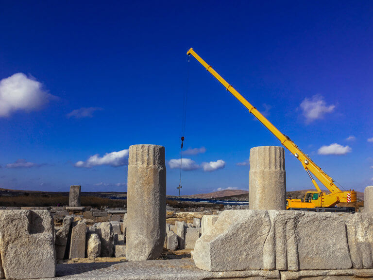 «Λαβωμένη» η Δήλος από την κλιματική αλλαγή – Αγωνία για τα μνημεία