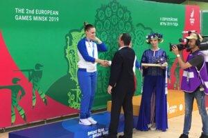 Ασημένιο μετάλλιο για την Κορακάκη στο Ευρωπαϊκό του Μινσκ