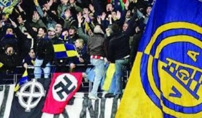 Ελλάς Βερόνα: Οπαδοί πανηγύρισαν την άνοδο με ναζιστικούς ύμνους και σβάστικες