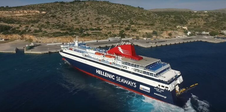 Βόρειο Αιγαίο: Μανούβρες του πλοίου «Νήσος Χίος» που κόβουν την ανάσα! Video