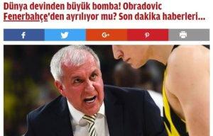 """""""Η Φενέρμπαχτσε είπε «όχι» σε Παναθηναϊκό για Ομπράντοβιτς"""""""