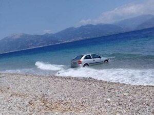 Αχαΐα: Αυτοκίνητο έκανε βουτιά στο Δρέπανο!