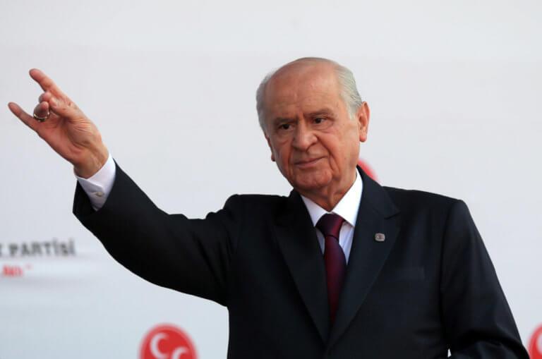 Νέο παραλήρημα Μπαχτσελί: Τα παιδιά των Τούρκων θα κάνουν κομματάκια τα παιδιά του Βυζαντίου