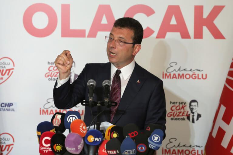 Ιμάμογλου: «Ευχαριστώ» στους Έλληνες και αυστηρό μήνυμα στον Ερντογάν