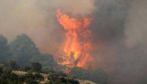 Φωτιά στη Βουρβουρού Χαλκιδικής – Ξέσπασε από κεραυνό!