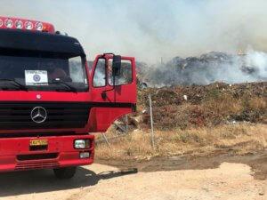 Φωτιά στο Λαύριο κοντά στο εργοστάσιο της ΕΒΟ!
