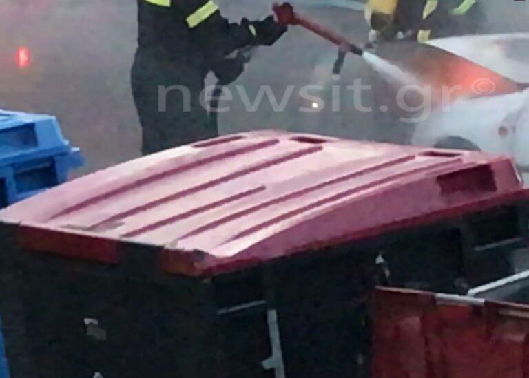 Φωτιά σε αμάξι και τρόμος στο Περιστέρι! Βίντεο ντοκουμέντο