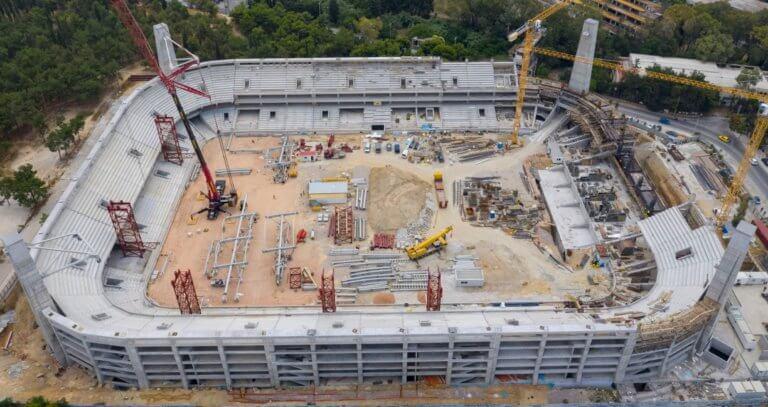 Γήπεδο ΑΕΚ: Έτοιμο το πέταλο στην ιστορική σκεπαστή! – video