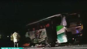 Ινδονησία: 12 νεκροί και 43 τραυματίες από καραμπόλα με λεωφορείο [video]
