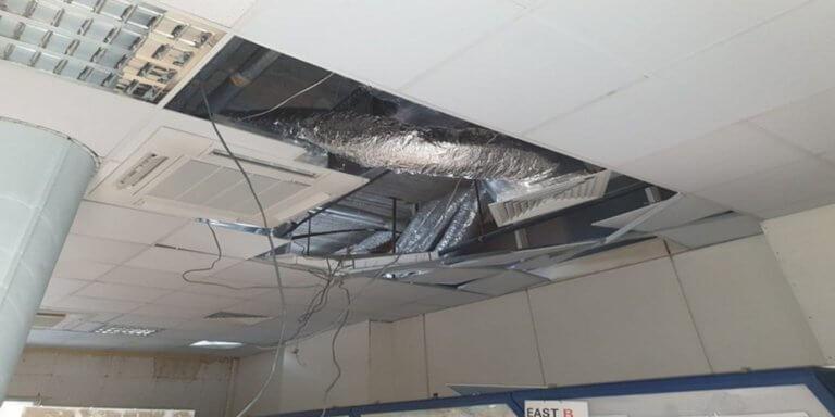 Λευκωσία: Κατέρρευσε μέρος της οροφής στο Κέντρο Ελέγχου Εναέριας Κυκλοφορίας – Ένας τραυματίας [pics]