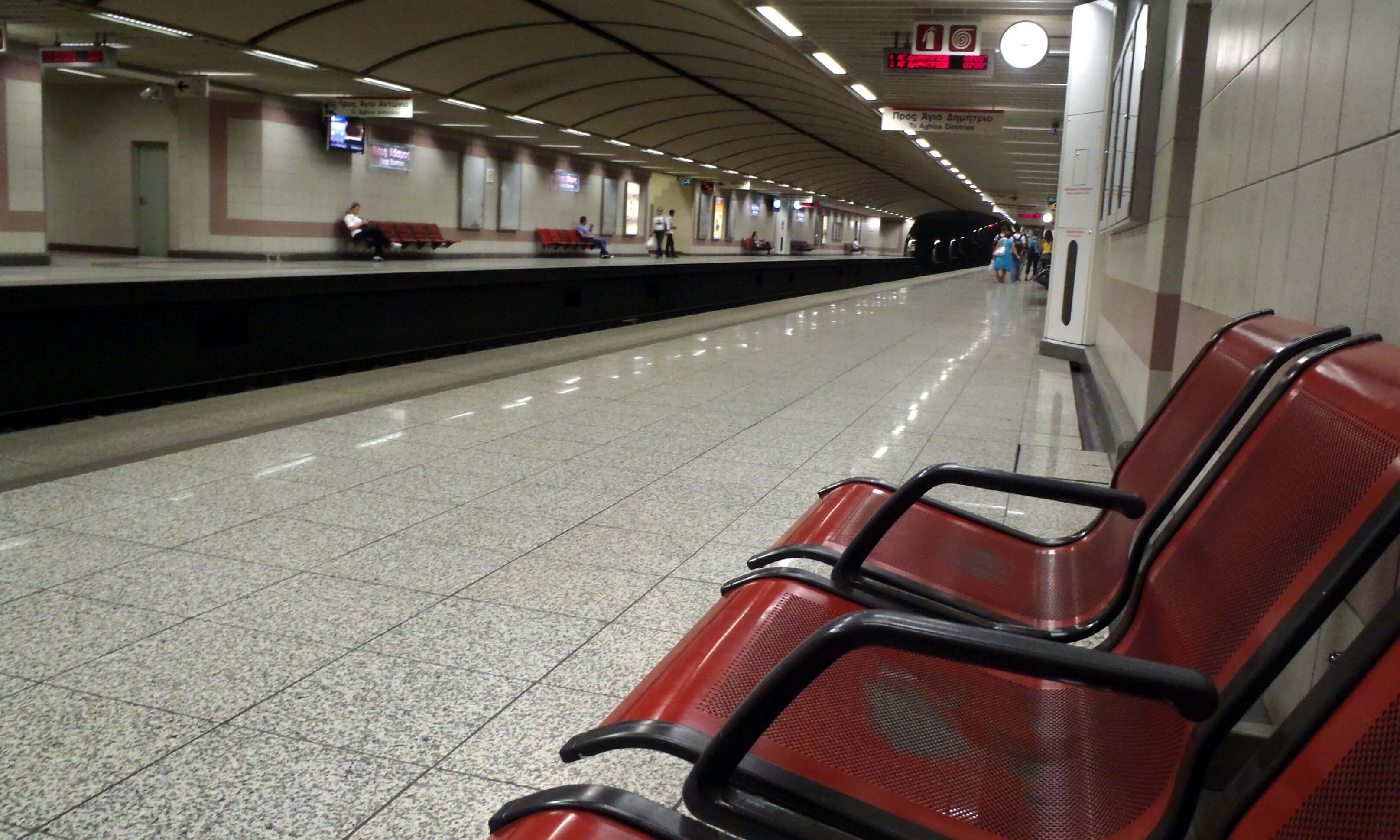 Στάση εργασίας σε Μετρό, Ηλεκτρικό, Τραμ