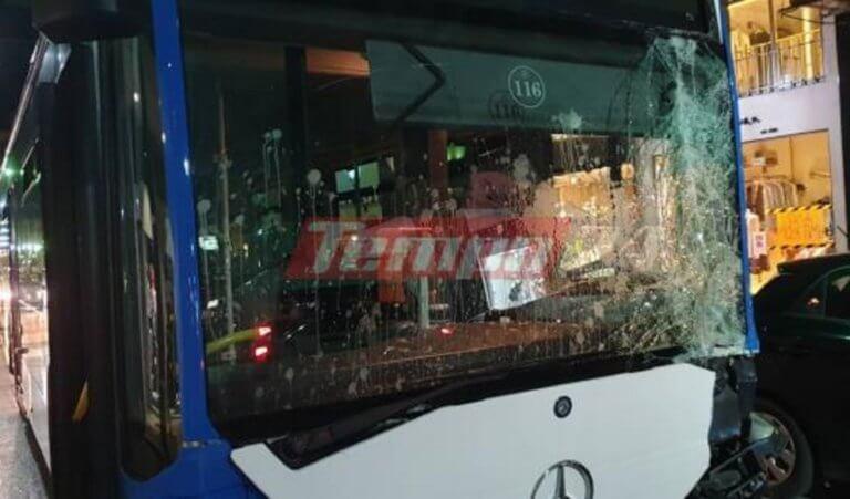 Πάτρα: Πανικός και ζημιές από ακυβέρνητο λεωφορείο! video