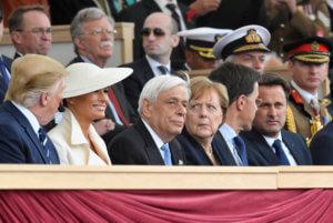 D-Day: Προκόπης Παυλόπουλος δίπλα σε Μελάνια Τραμπ, Μέρκελ και Βασίλισσα Ελισάβετ