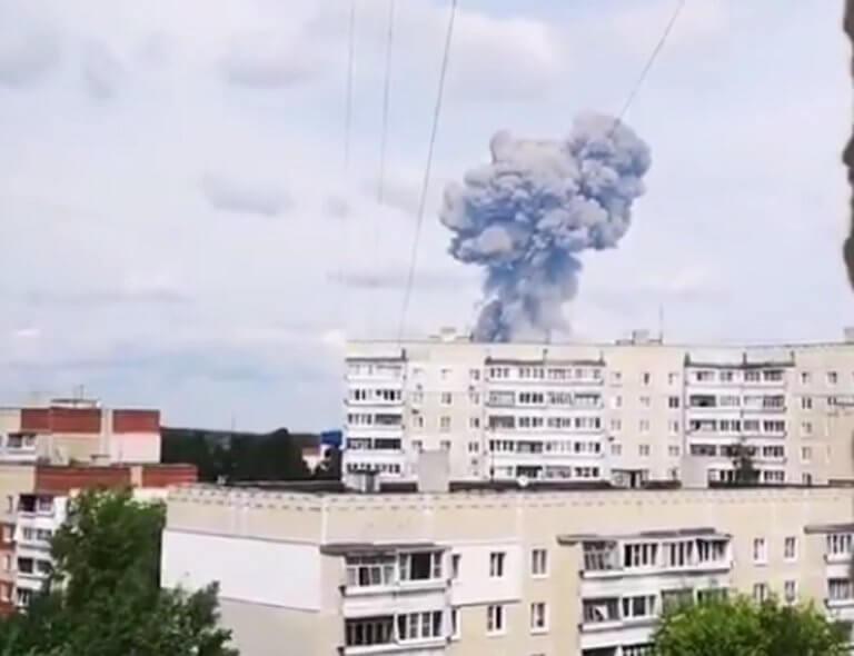 Έκρηξη σε εργοστάσιο παραγωγής εκρηκτικών στη Ρωσία! – video