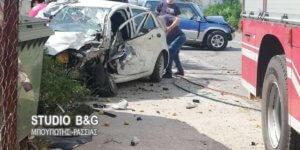 Εικόνες σοκ από τροχαίο στο Άργος – Μια σοβαρά τραυματίας [pics]