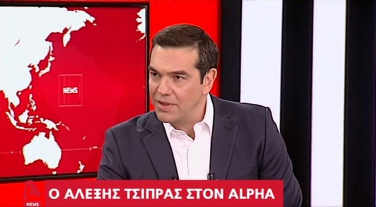 Χείμαρρος ο Τσίπρας στον Alpha! Η συγγνώμη για τις μετατάξεις, ο Κοτζιάς και τα λουλούδια για Βαρουφάκη
