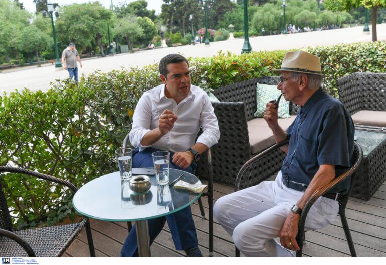 Εκλογές 2019: Τσίπρας – Βασιλικός για… καφέ στο Ζάππειο [pics]