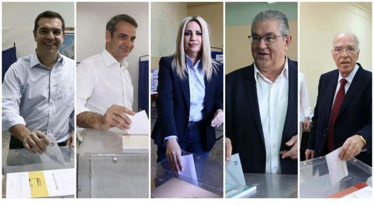 Εκλογές 2019: Πού ψηφίζουν οι πολιτικοί αρχηγοί