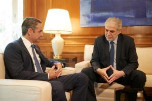 """Μητσοτάκης στον Κύπριο Επίτροπο Στυλιανίδη: """"Πλήρης αναδιοργάνωση του μηχανισμού ένα χρόνο από το Μάτι""""!"""