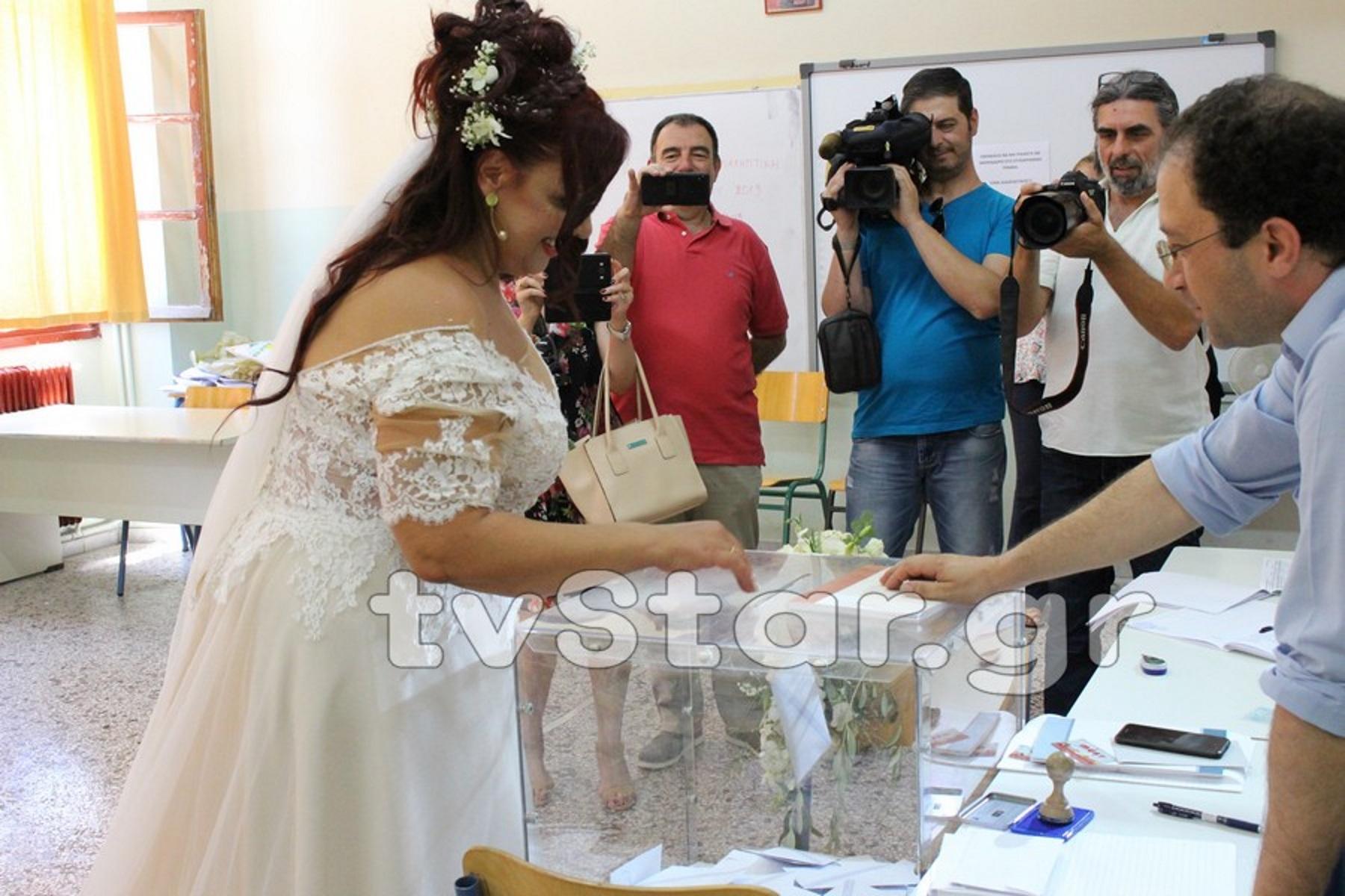 Η νύφη των εκλογών στη Λιβαδειά – video