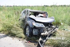 Ημαθία: Ένας νεκρός και δύο τραυματίες σε σύγκρουση τριών αυτοκινήτων – video, pics