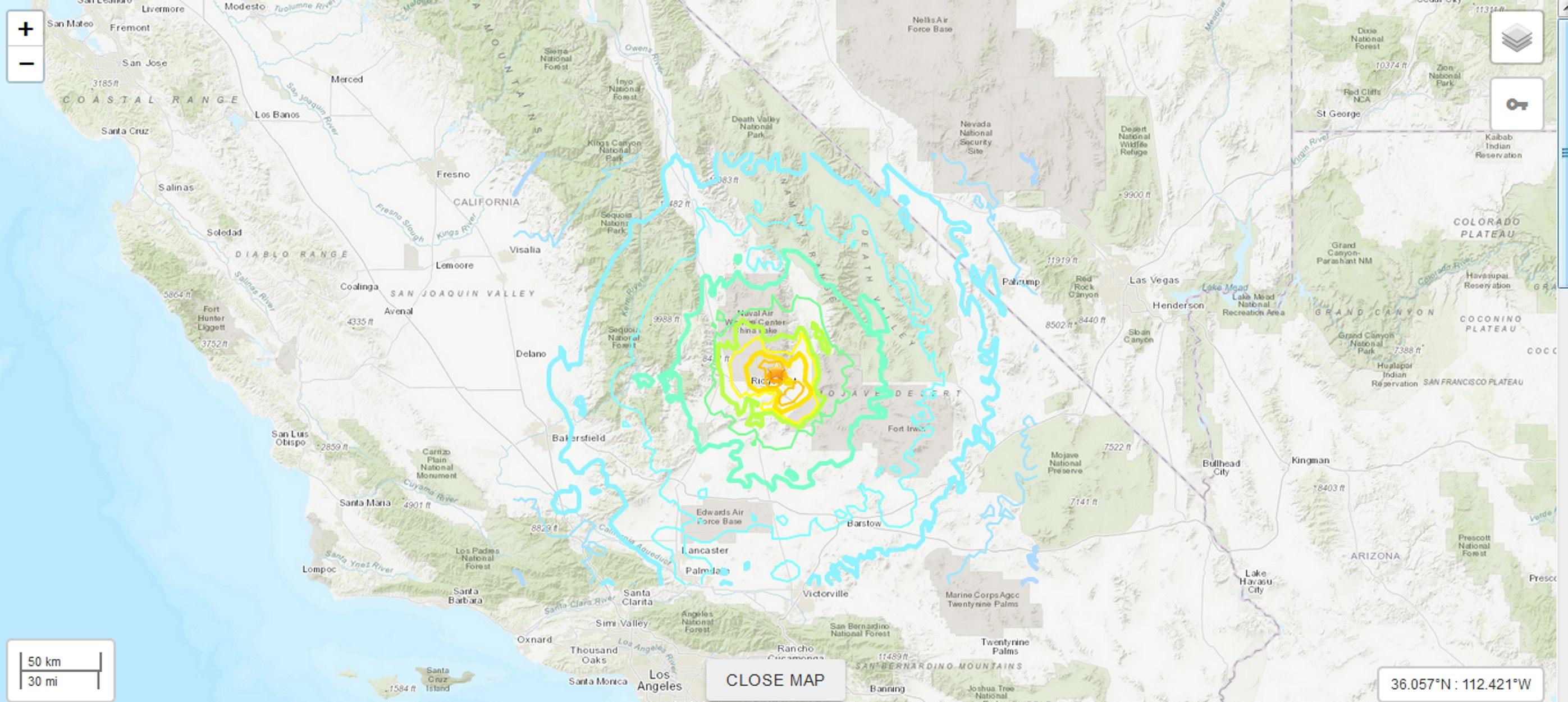 Πολύ ισχυρός σεισμός μεγέθους 6,6 Ρίχτερ στην Καλιφόρνια