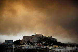 Έτσι ήταν η Ακρόπολη την ημέρα της φωτιάς στο Μάτι