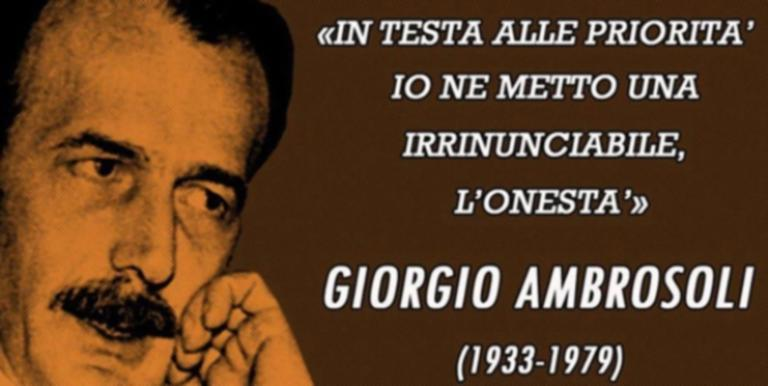 40 χρόνια από τη δολοφονία του Τζόρτζιο Αμπροζόλι από τη μαφία