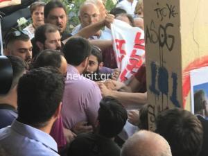 Εκλογές 2019: Ένταση στο εκλογικό τμήμα που ψήφισε ο Μητσοτάκης – video
