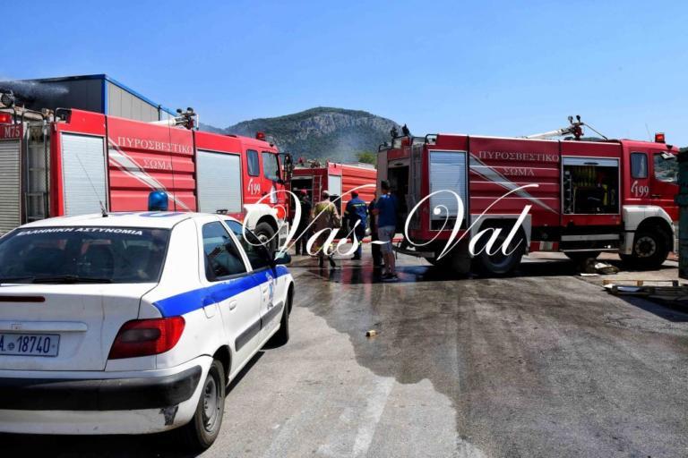 Κορινθία: Το σύστημα εξαερισμού προκάλεσε φωτιά σε εργοστάσιο – Η επέμβαση της πυροσβεστικής [pics]