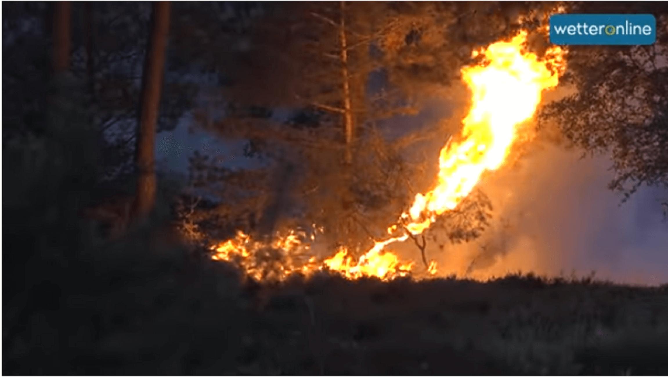 Γερμανία: Μεγάλη δασική πυρκαγιά γύρω από στρατόπεδο με πυρομαχικά!
