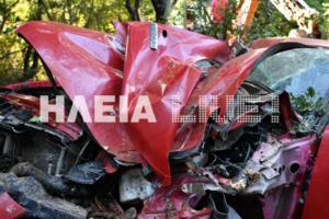 Νεκρός οδηγός που έπεσε σε γκρεμό στην Αρχαία Ολυμπία
