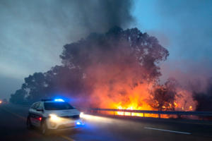 Μεγάλη φωτιά απειλεί τη Βασιλική της Μεταμορφώσεως στο Ισραήλ