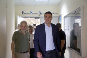 Την κεντρική υπηρεσία του ΕΚΑΒ επισκέφθηκε ο Βασίλης Κικίλιας
