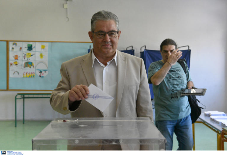 Εκλογές 2019: Στο Χαϊδάρι ψήφισε ο Δημήτρης Κουτσούμπας