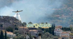 Μεγάλη φωτιά στο Ναύπλιο: Απειλούνται σπίτια! [pics]