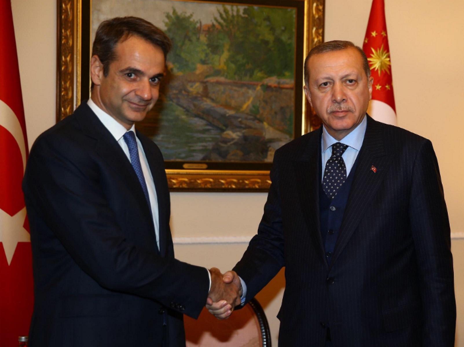 Εκλογές 2019: Συγχαρητήρια Ερντογάν σε Μητσοτάκη για τον θρίαμβο