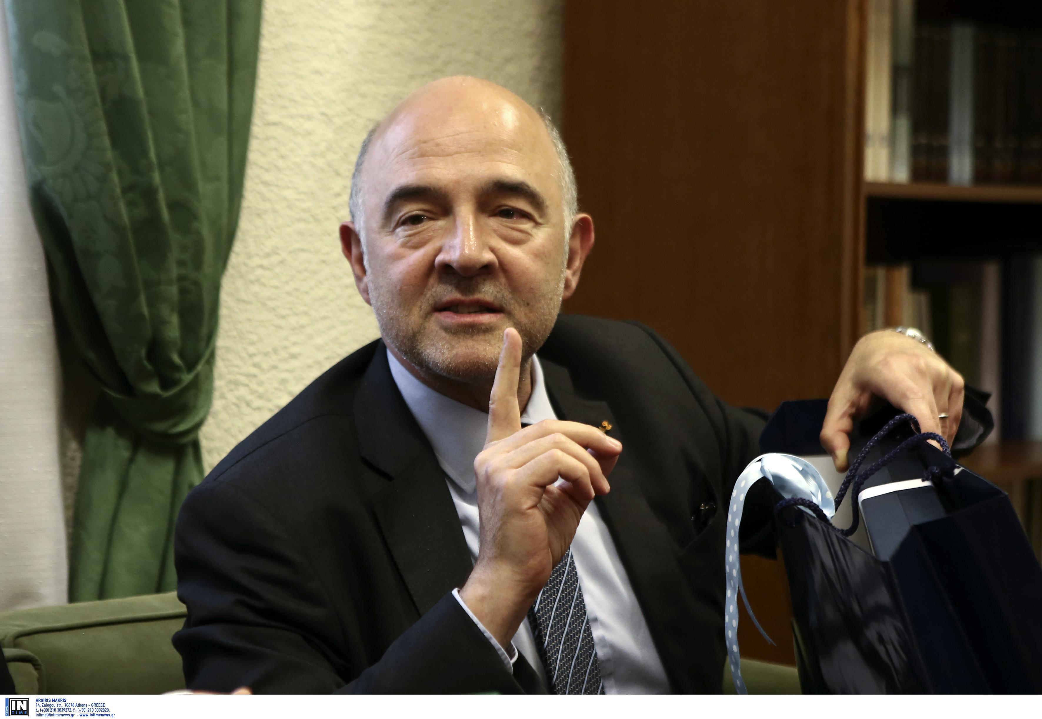 Μοσκοβισί: Μόνο το Eurogroup μπορεί να αλλάξει την απόφαση για το πλεόνασμα 3,5%