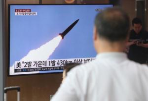 Οι πρώτες εικόνες από τους πυραύλους που εκτόξευσε η Βόρεια Κορέα