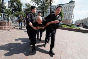 Μόσχα: Δεκάδες συλλήψεις διαδηλωτών έξω από το Δημαρχείο [pics]