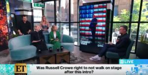Ο Ράσελ Κρόου άφησε… σύξυλο τον παρουσιαστή! Αποχώρησε την ώρα της εκπομπής – Video