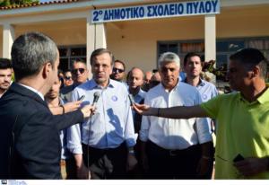 """Εκλογές 2019: Χαμογελαστός ο Αντώνης Σαμαράς – """"Να ξαναχτίσουμε την Ελλάδα της δημιουργίας"""" – video"""