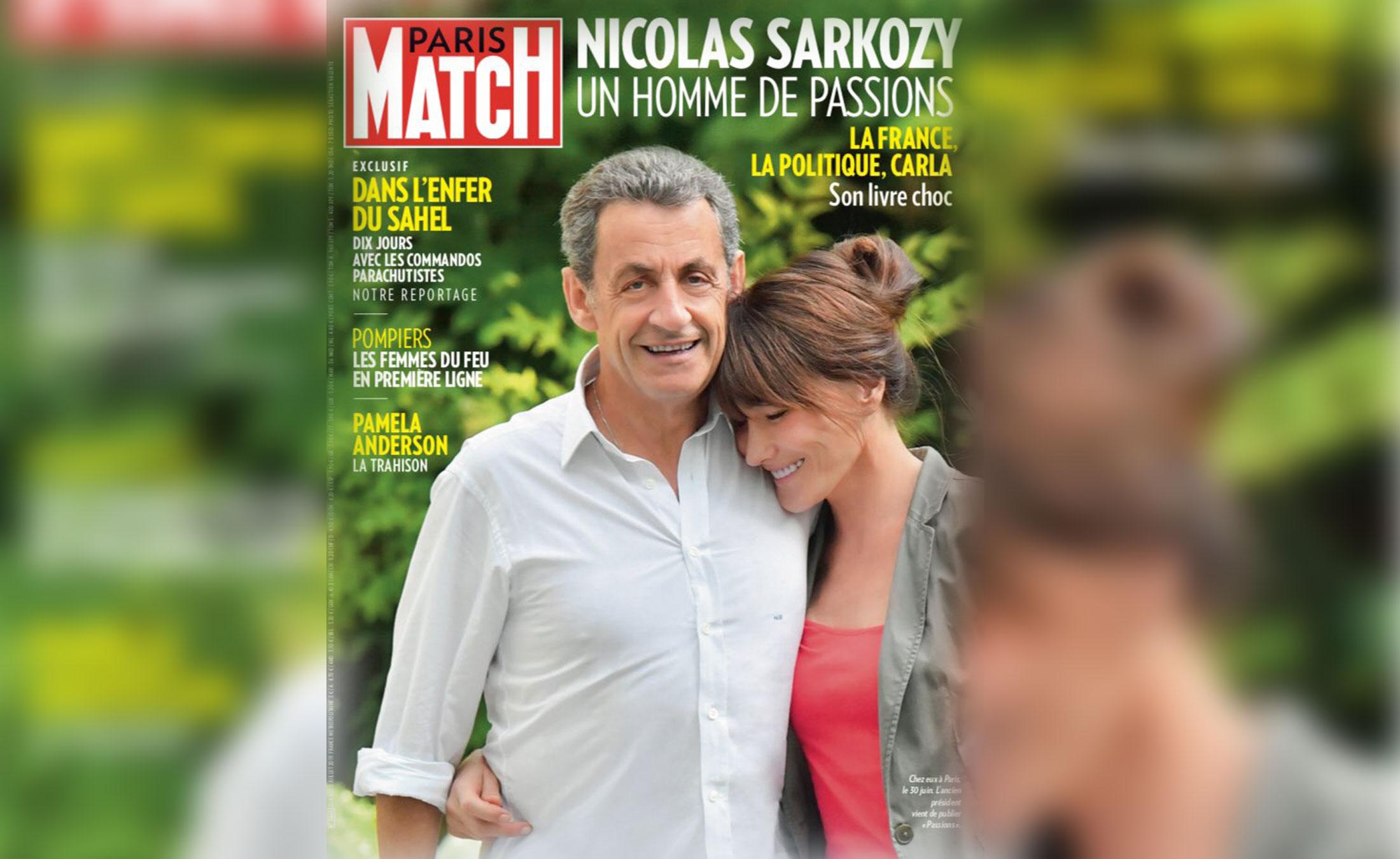 """Η Κάρλα Μπρούνι… """"μπήκε"""" και την πέρασε σε ύψος ο Σαρκοζί – """"Γλεντάει"""" το εξώφυλλο του Paris Match το twitter"""