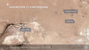 Σεισμός στην Καλιφόρνια: Ρωγμή στο έδαφος ορατή από το διάστημα