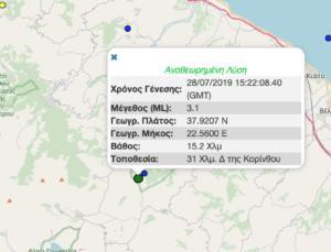 Σεισμός τώρα στην Κόρινθο